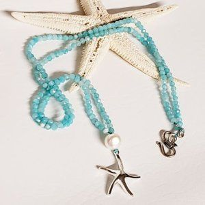 Sterling Silver Starfish and Amazonite